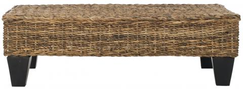 Safavieh - FOX6528B  LEARY WICKER BENCH - NATURAL