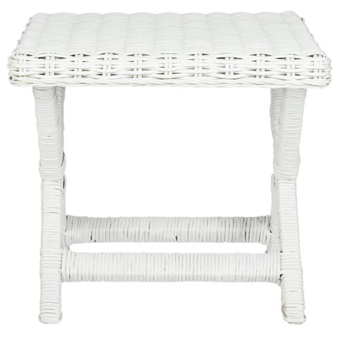 Safavieh - FOX6529C MANOR WICKER X-BENCH - WHITE