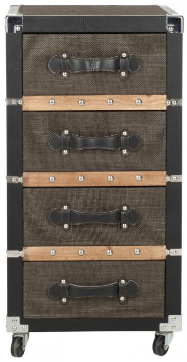 Safavieh - FOX9504A BRENT 4 DRAWER ROLLING CHEST
