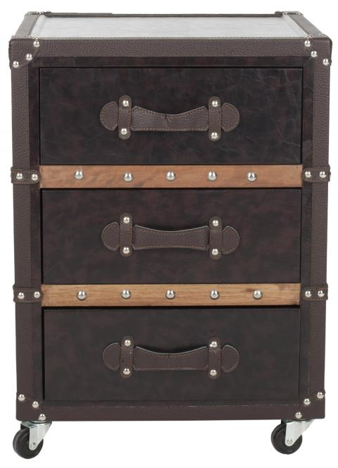 Safavieh - FOX9508A NORMAN 3 DRAWER ROLLING CHEST