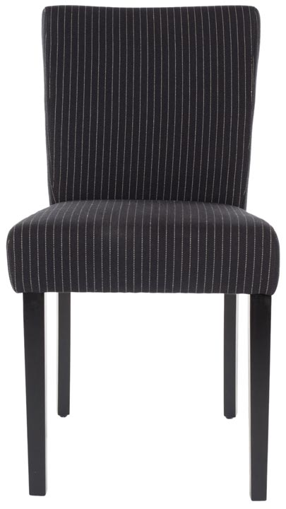 Safavieh - HUD4219A CAMILLE DINING CHAIRS - BLACK PINSTRIPES ...