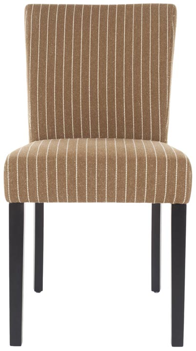 Safavieh - HUD4219B CAMILLE DINING CHAIRS - BROWN PINSTRIPE ...