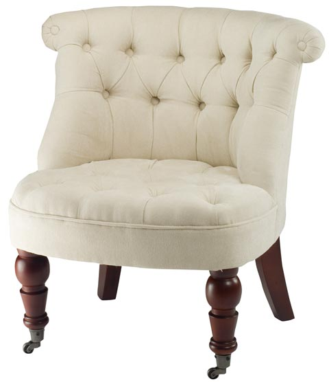 Safavieh - HUD8209A BABY TUFTED CHAIR - CREAM