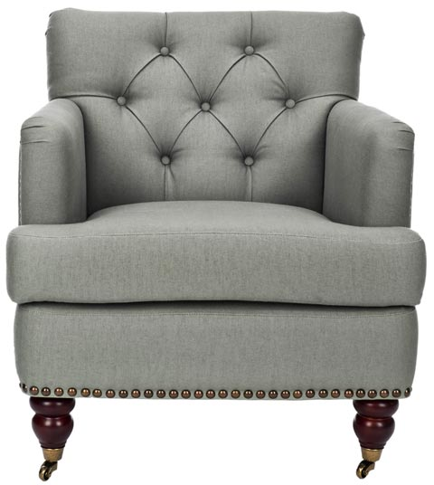 Safavieh - HUD8212D COLIN TUFTED CLUB CHAIR - SEA MIST