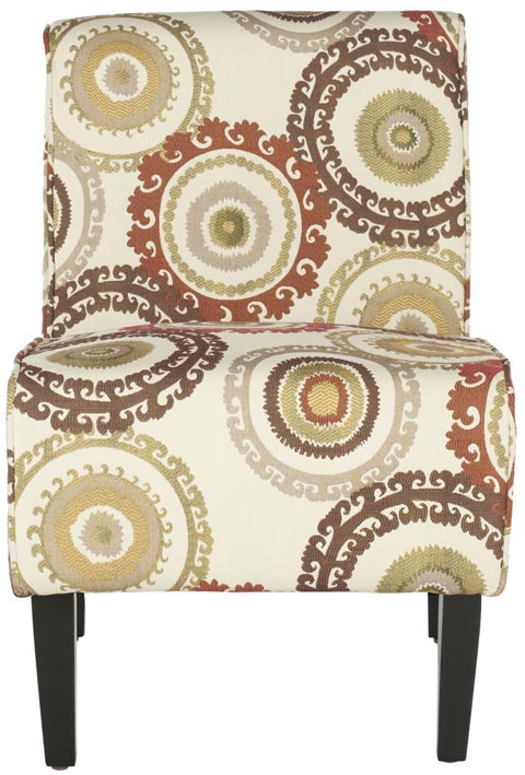 Safavieh - MCR1004A CIRCLE IVORY ARMLESS CLUB CHAIR