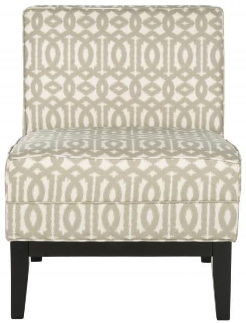 Safavieh - MCR1006A ARMOND CHAIR - GRAY/CREAM