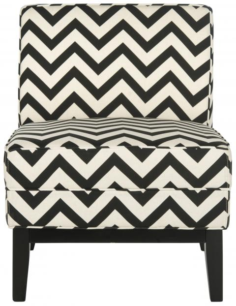 Safavieh - MCR1006D ARMOND CHAIR - BLACK/WHITE
