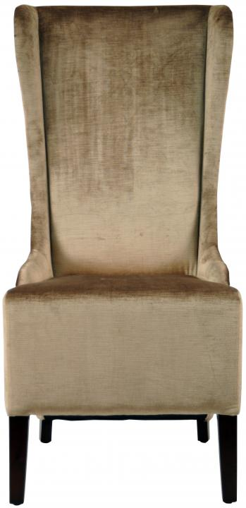 Safavieh   MCR4501A BACALL CHAIR   DARK BEIGE