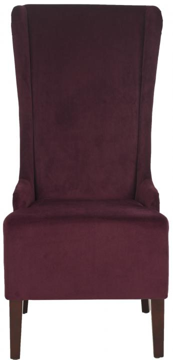 Safavieh   MCR4501K BACALL CHAIR   BORDEAUX