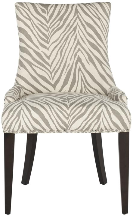 Safavieh - MCR4502N BECCA DINING CHAIR - GRAY ZEBRA ...
