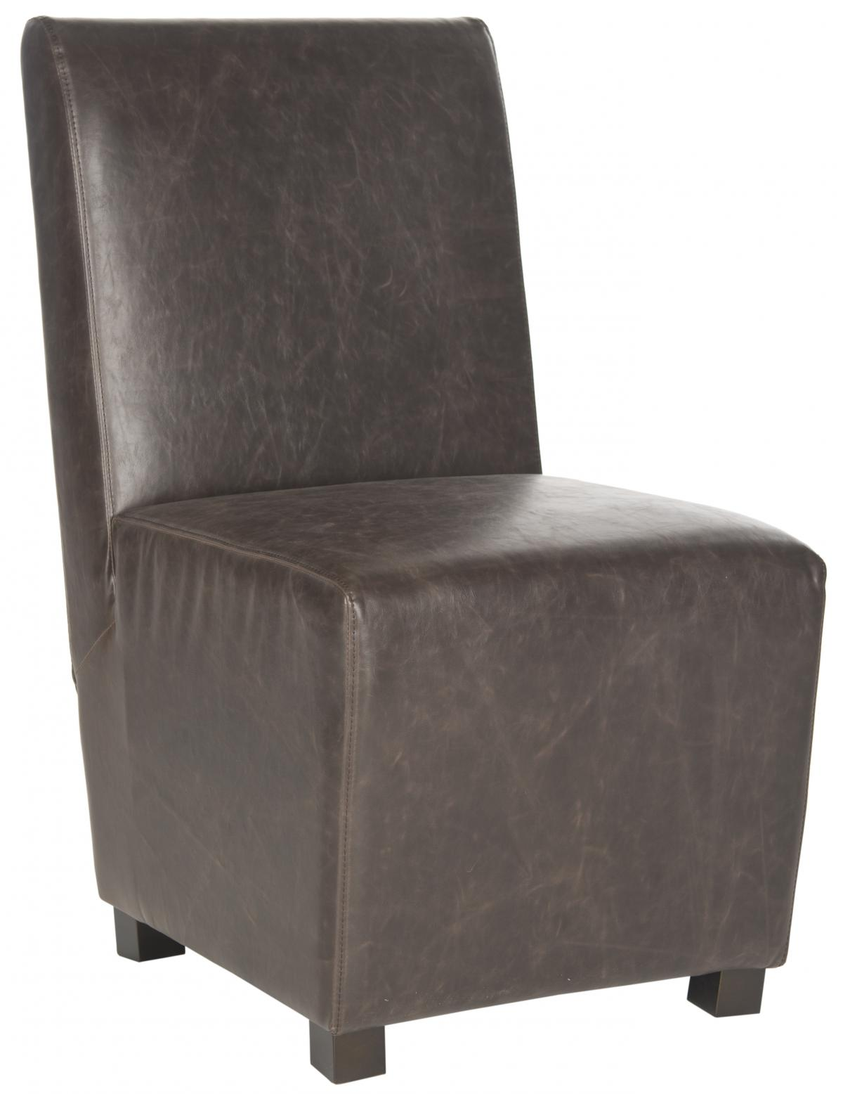Safavieh - MCR4512B BLEEKER CHAIR - ANTIQUE BROWN (SET)...