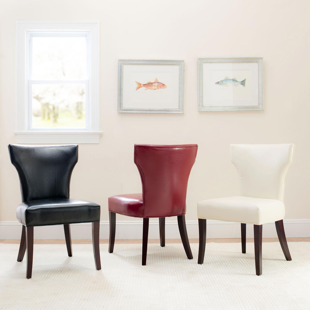 Safavieh - MCR4513A RYAN SIDE CHAIR - WHITE (SET OF ...
