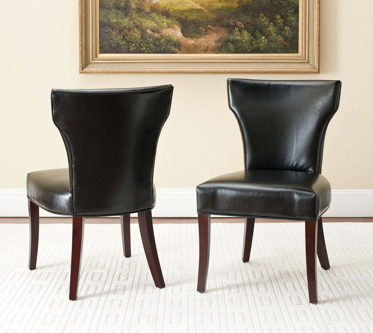 Safavieh - MCR4513B RYAN SIDE CHAIR - BLACK (SET OF ...