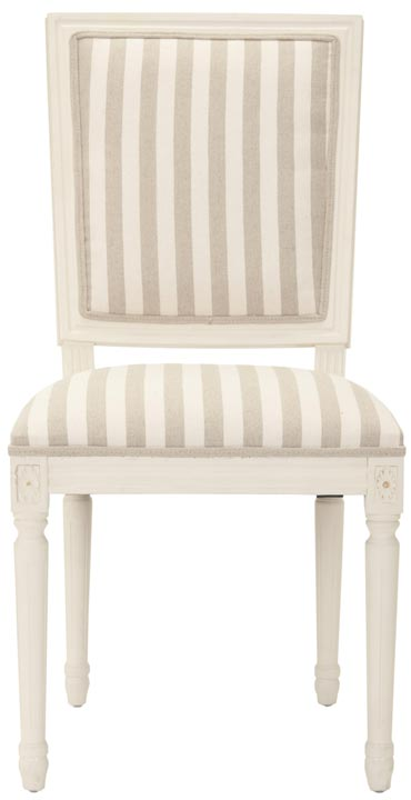 Safavieh - MCR4516D ASHTON SIDE CHAIR - CREAM/GRAY (...