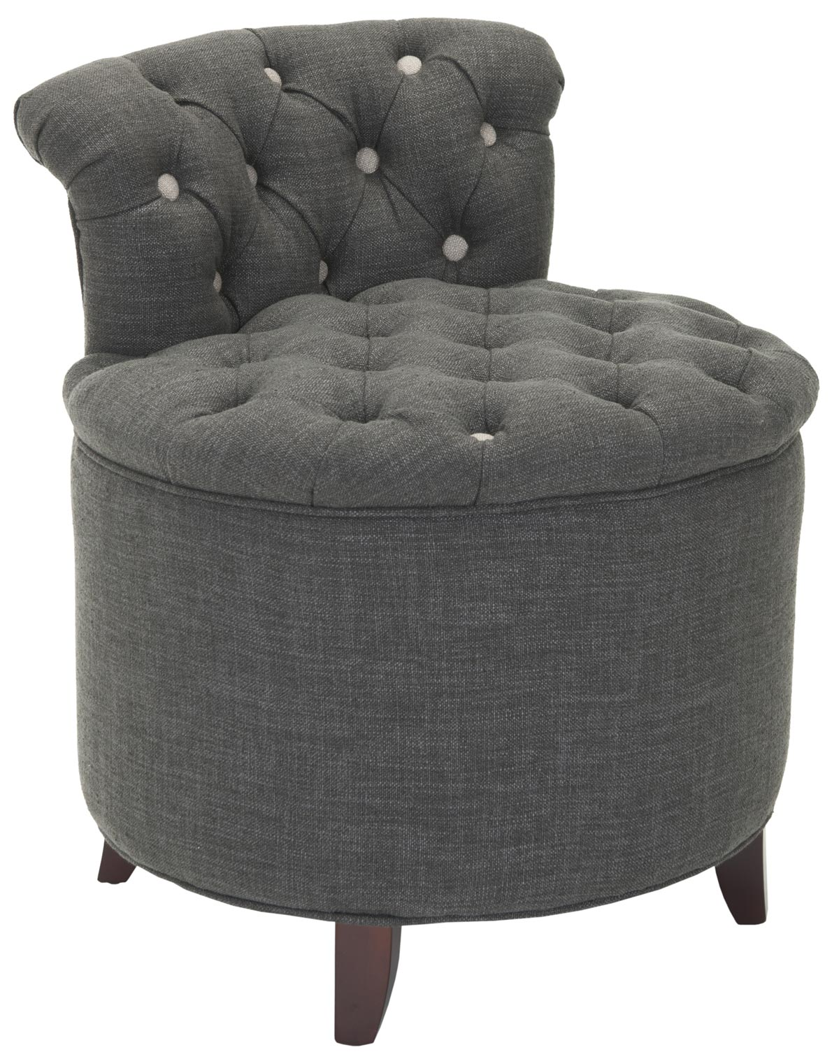 Charmant Safavieh   MCR4518A REBECCA TUFTED VANITY CHAIR