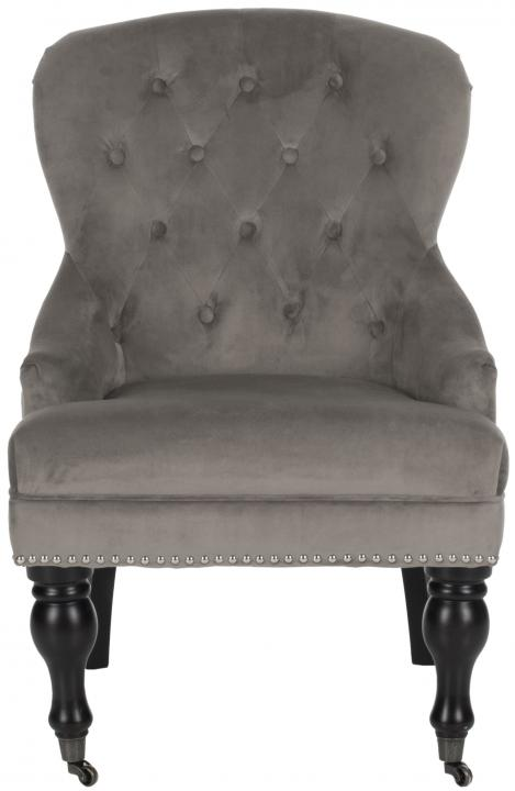 Safavieh - MCR4544D FALCON ARM CHAIR - MUSHROOM TAUPE