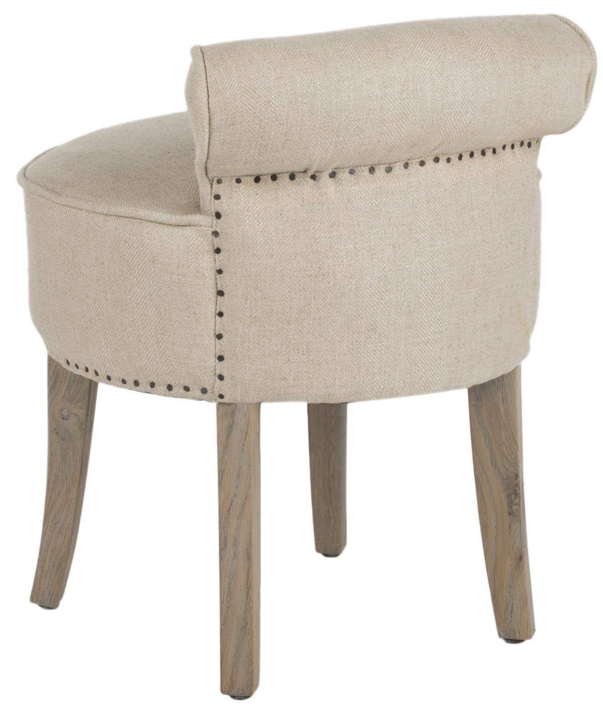 Safavieh - MCR4546G GEORGIA VANITY CHAIR - PEARL
