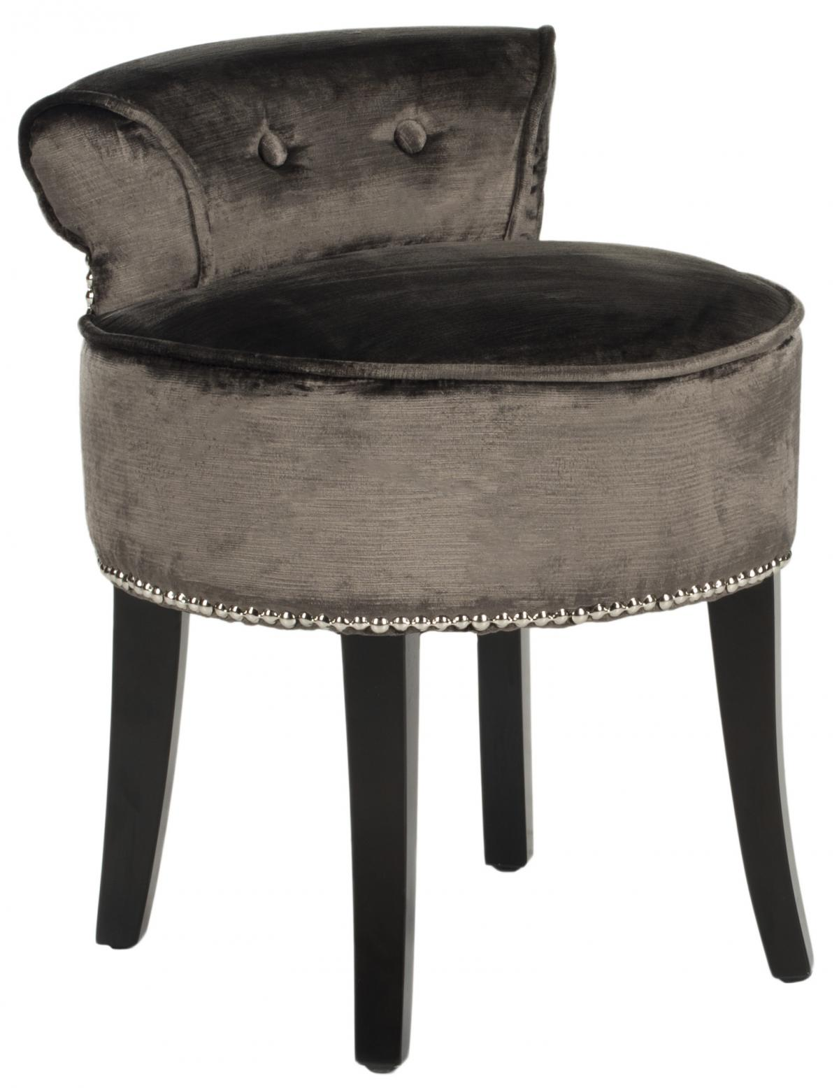 Safavieh - MCR4546H GEORGIA VANITY CHAIR - PEWTER