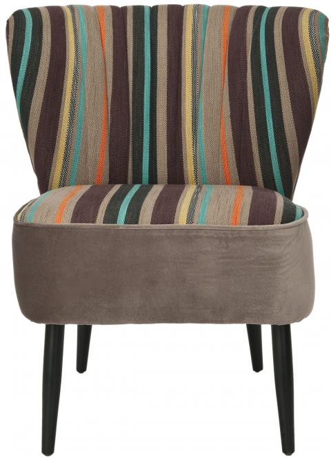 Safavieh - MCR4548A MORGAN ACCENT CHAIR - MULTI STRIPED