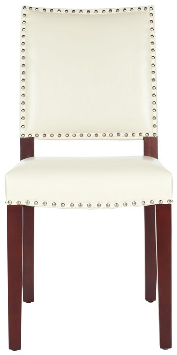 Safavieh - MCR4556K JAMES LEATHER SIDE CHAIR - CREAM ...
