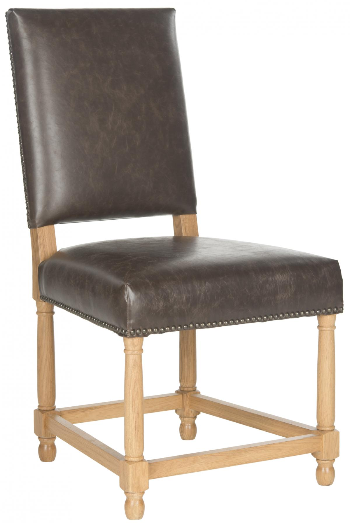 Safavieh - MCR4557B FAXON SIDE CHAIR - ANTIQUE BROWN ...