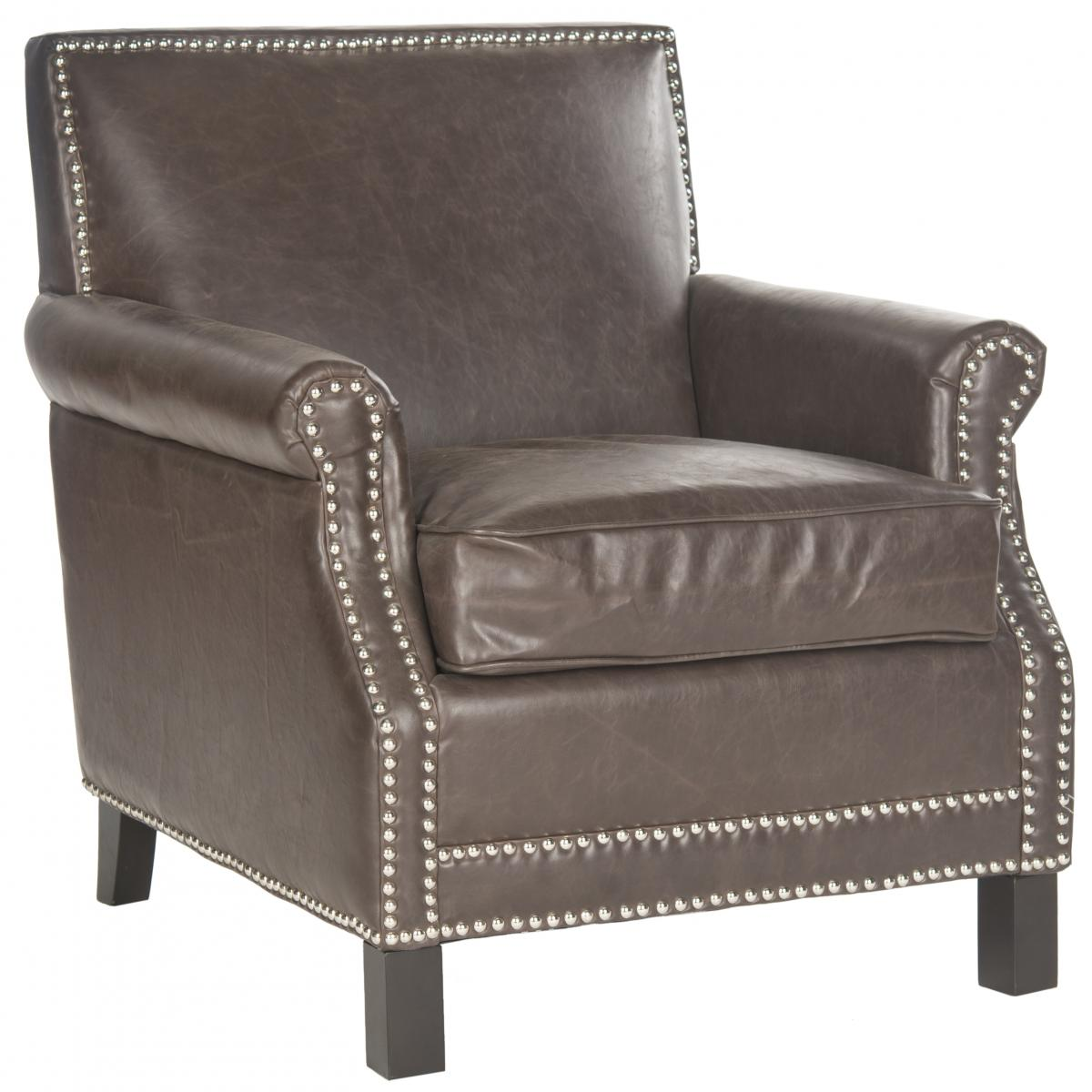 Safavieh - MCR4572E EASTON CLUB CHAIR - ANTIQUE BROWN