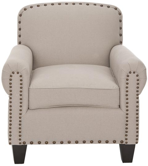 Safavieh - MCR4573A ABIGAIL CLUB CHAIR - BEIGE