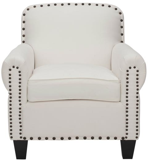Safavieh - MCR4573B ABIGAIL CLUB CHAIR - WHITE