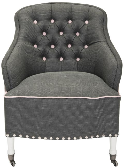 Safavieh - MCR4580B PAISLEY ARM CHAIR - GRAY