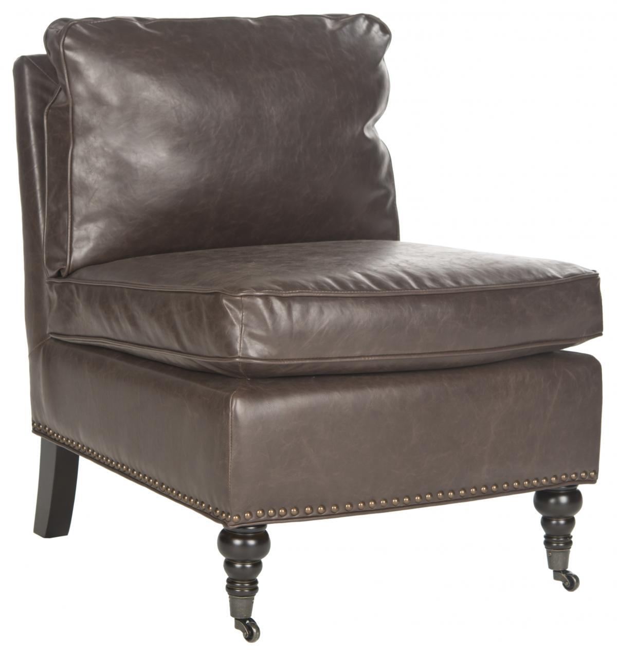 Safavieh - MCR4584H RANDY SLIPPER CHAIR - ANTIQUE BROWN - Safavieh - MCR4584H RANDY SLIPPER CHAIR - ANTIQUE BROWN $1,071.00