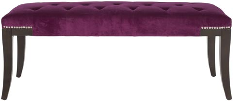 Safavieh - MCR4614E GIBBONS BENCH - PLUM