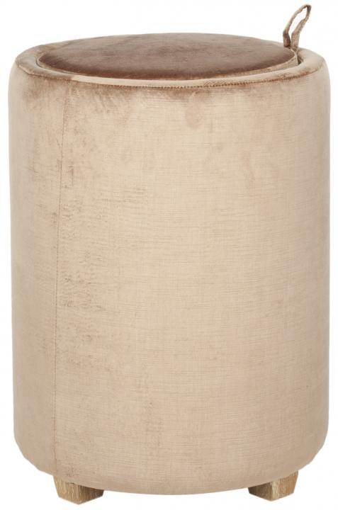 Safavieh - MCR4660A JEANNIE MINK BROWN LINEN BLEND END ...