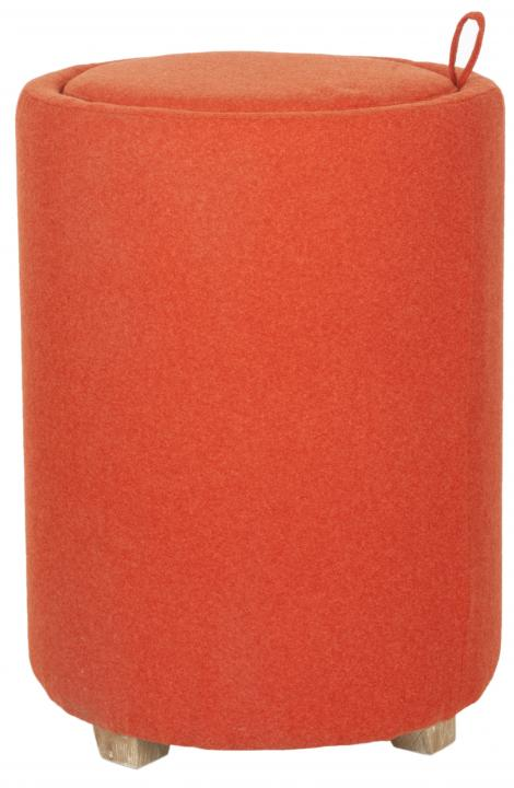 Safavieh - MCR4660B JEANNIE BURNT OTTOMAN - ORANGE