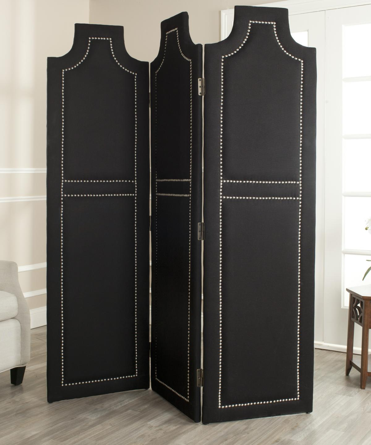 Safavieh - MCR4665A DARCY BLACK 3-PIECE FOLDING SCREEN