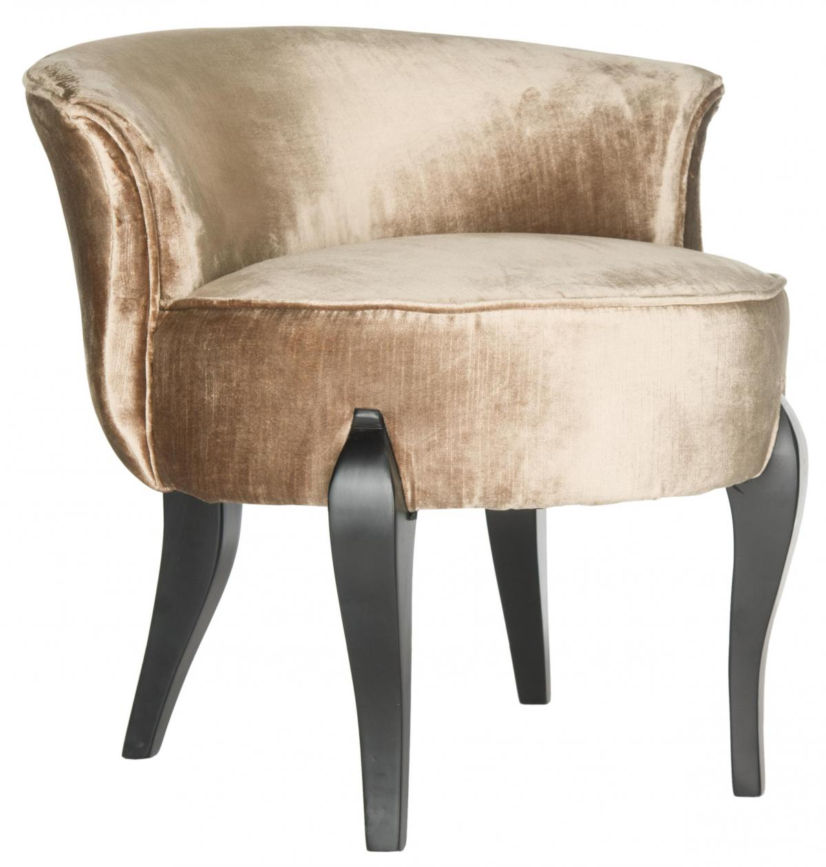 Safavieh - MCR4692C MORA VANITY CHAIR - MINK BROWN