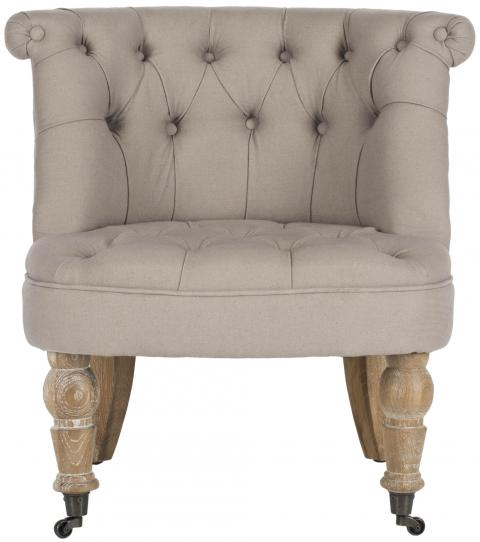 Safavieh - MCR4711B CARLIN TUFTED CHAIR - TAUPE