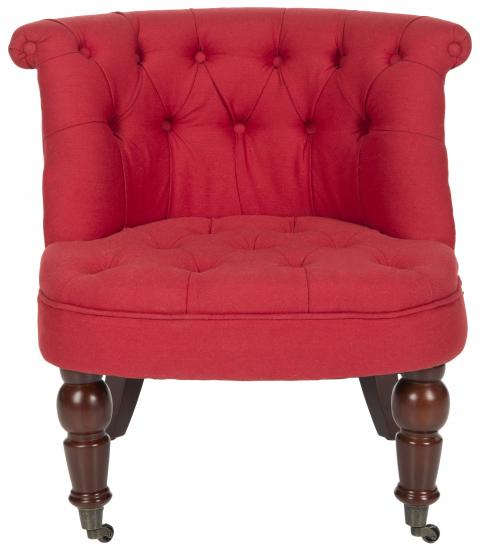 Safavieh - MCR4711D CARLIN TUFTED CHAIR - CRANBERRY
