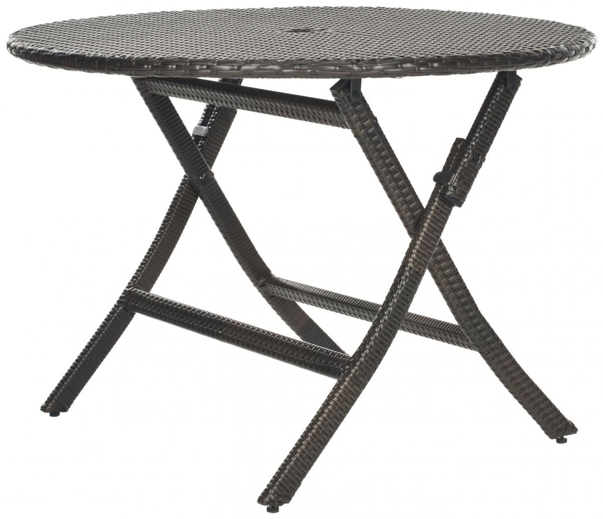 Safavieh - PAT2001A ELLIS ROUND FOLDING TABLE