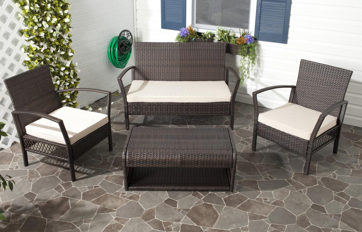 Safavieh - PAT2006A CAPRINA 4 PIECE OUTDOOR SET