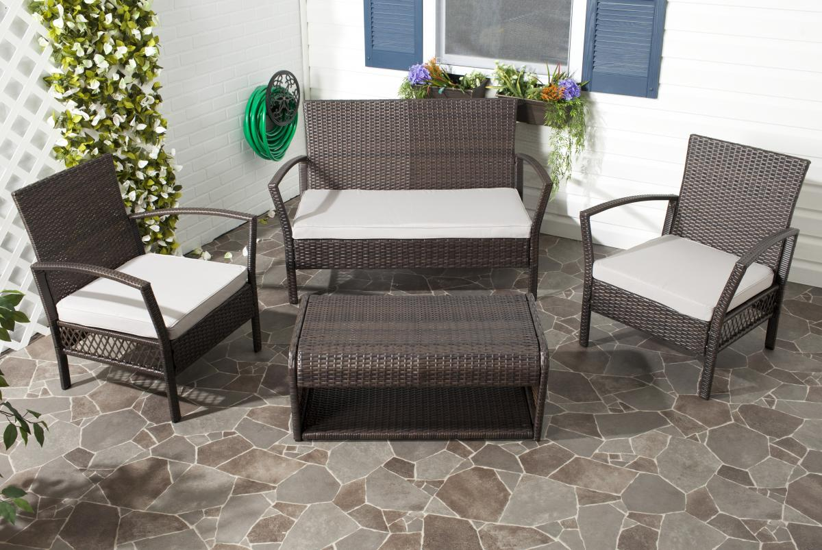 Safavieh - PAT2006B CAPRINA 4 PIECE OUTDOOR SET