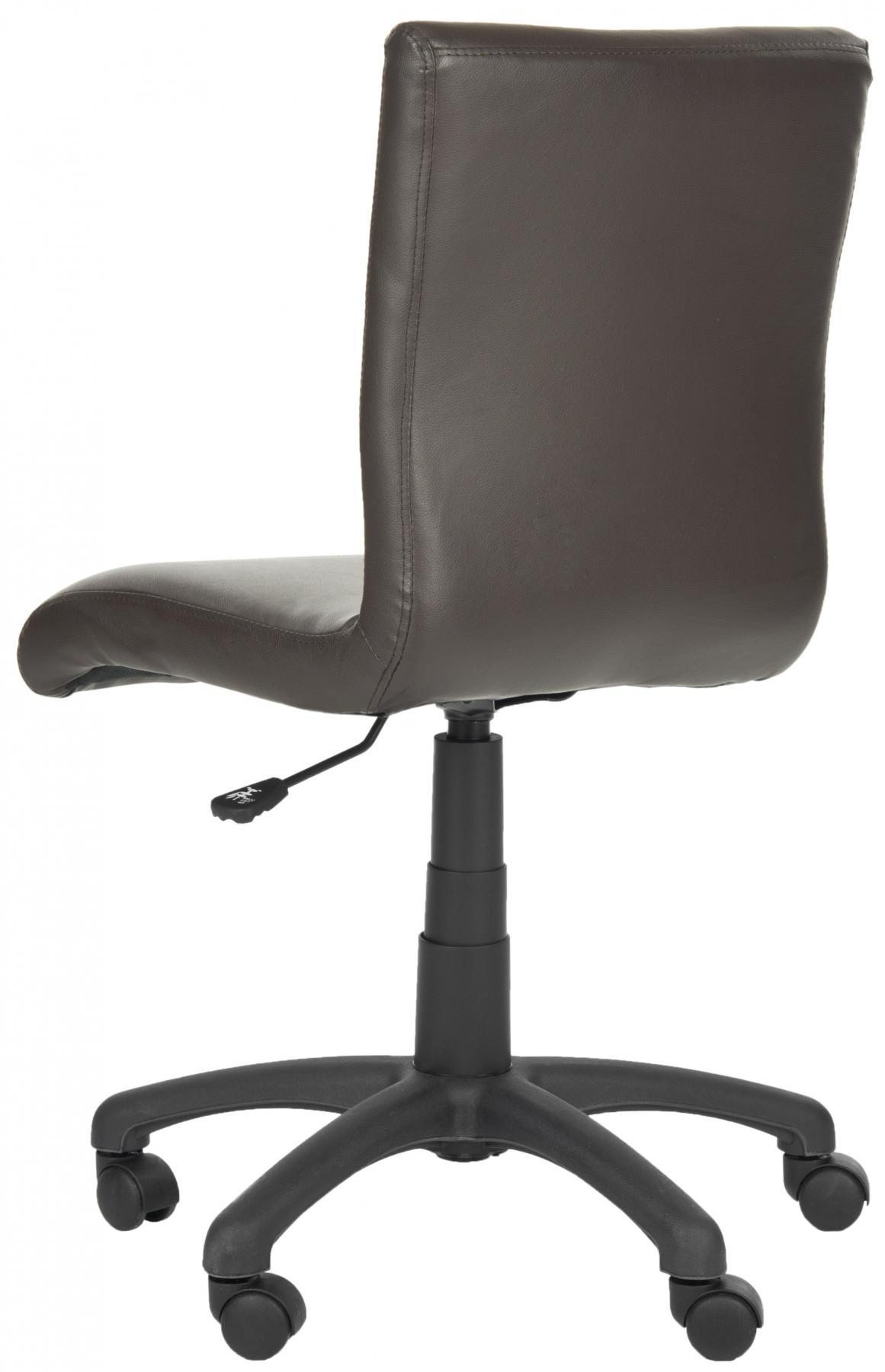 safavieh fox8501a brown armless desk chair 261 00 desk chairs rh nyfifth com armless desk chairs without wheels armless desk chairs leather