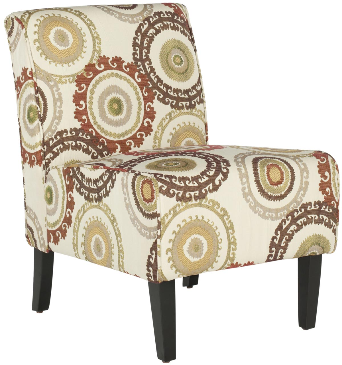 Armless club chairs -  Safavieh Mcr1004a Circle Ivory Armless Club Chair
