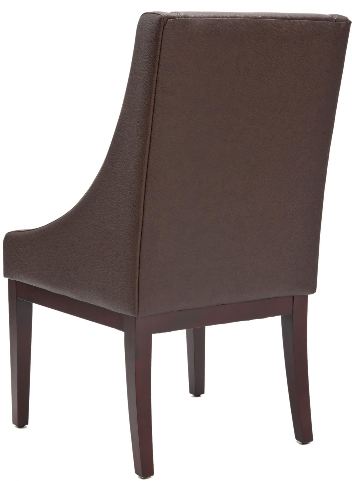 safavieh mcr4500c sloping chair brown dining chairs. Black Bedroom Furniture Sets. Home Design Ideas