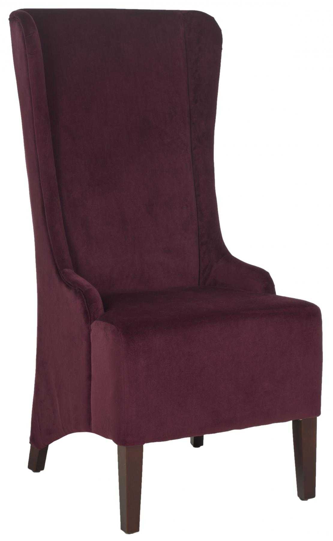 ... Safavieh   MCR4501K BACALL CHAIR   BORDEAUX