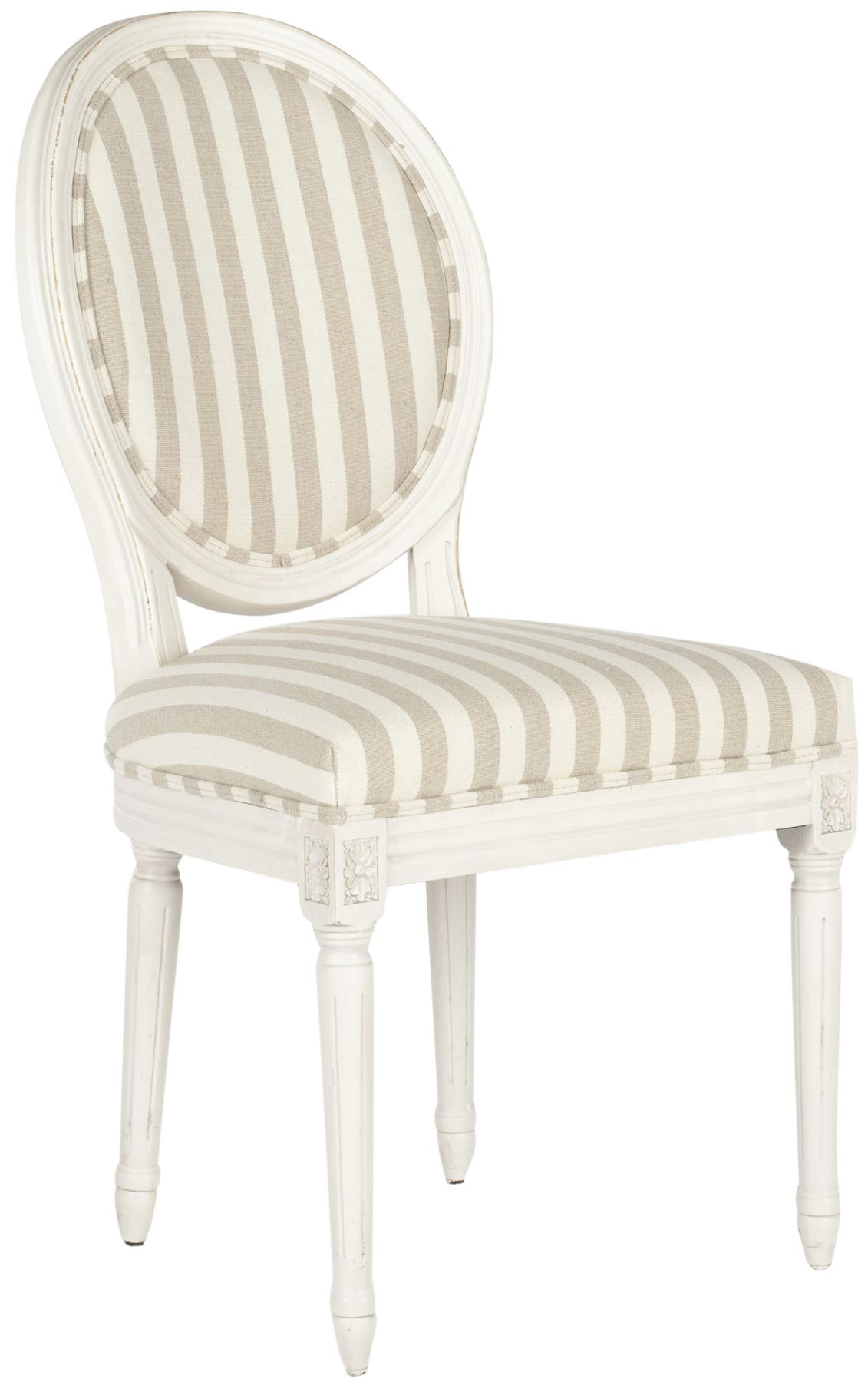 Safavieh chairs safavieh set of 2 laguna side chair in for White oval back dining chair