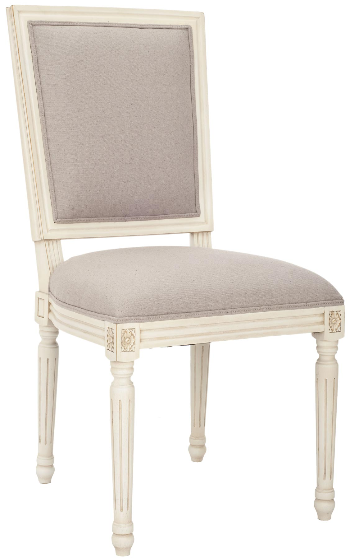 Safavieh MCR4516C ASHTON SIDE CHAIR TAUPE SET OF TWO $801 00