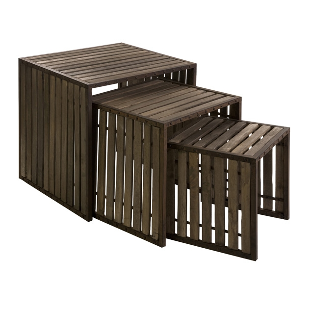 IMAX 10808-3 CKI Vermont Iron and Wood Nesting Tables ...
