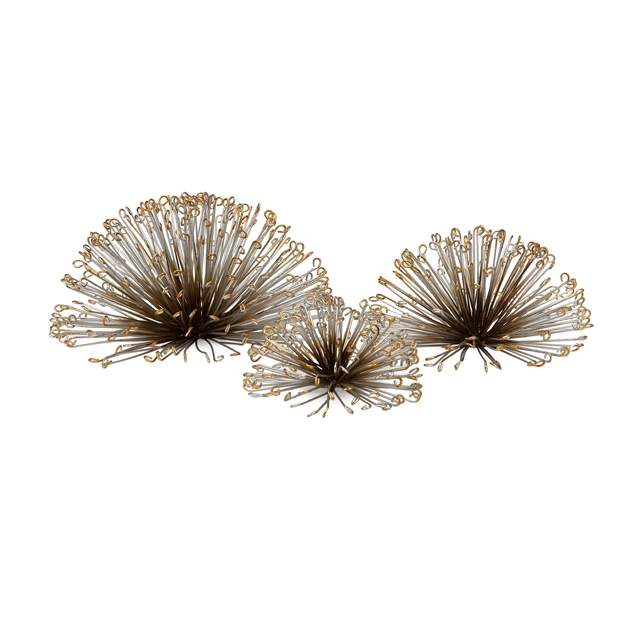 IMAX 84459 3 Laserette Wire Flower Wall Decor Set Of 3