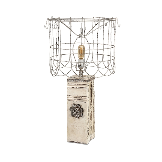 IMAX 87662 Ella Elaine Table Lamp with Wire Shade