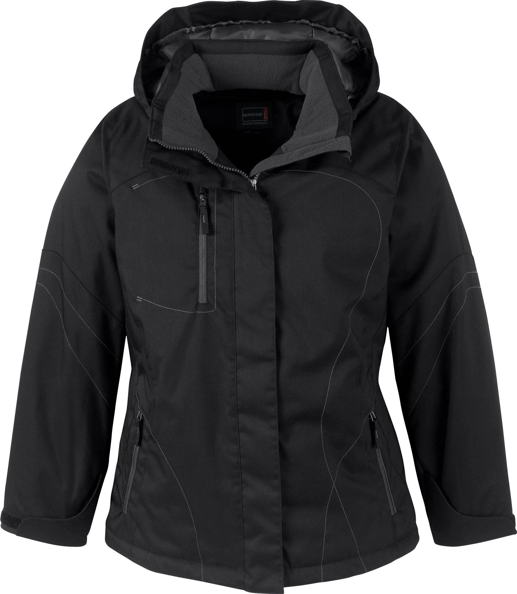 Ash City UTK 3 Warm.Logik 78643 - Traverse Ladies' Two-Tone Textured Insulated Jacket With Hood